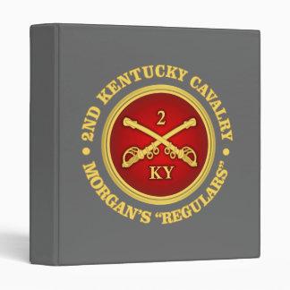 CSC -2nd Kentucky Cavalry (brass-red) Binder
