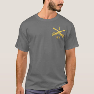 CSC -2nd Kentucky Cavalry (brass-red) T-Shirt