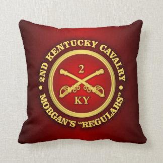 CSC -2nd Kentucky Cavalry (brass-red) Throw Pillow