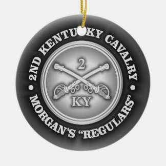 CSC -2nd Kentucky Cavalry Ceramic Ornament