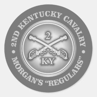 CSC -2nd Kentucky Cavalry Classic Round Sticker