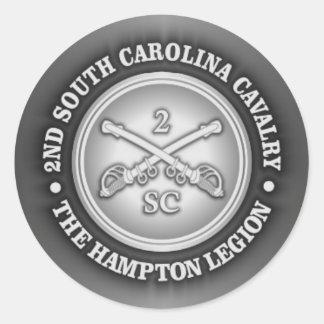 CSC -2nd South Carolina Cavalry Classic Round Sticker