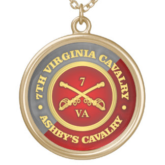 CSC -7th Virginia Cavalry (Ashby's Cavalry) Gold Plated Necklace