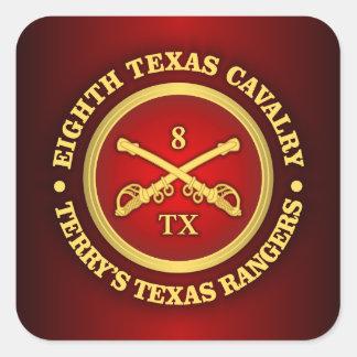 CSC -8th Texas Cavalry Square Sticker
