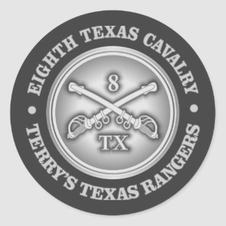 CSC -8th Texas Cavalry Classic Round Sticker