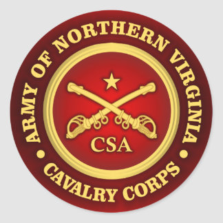CSC -Army of Northern Virginia Cavalry Corps Classic Round Sticker