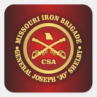 CSC - Brigada del hierro de Missouri Pegatina Cuadrada