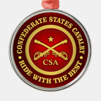 CSC -Confederate States Cavalry Metal Ornament