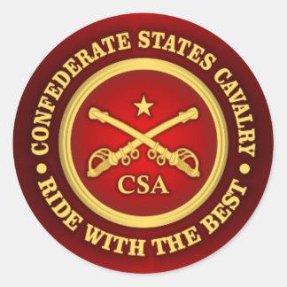 CSC -Confederate States Cavalry Classic Round Sticker
