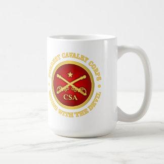CSC - Cuerpo de caballería de Forrest Taza Básica Blanca