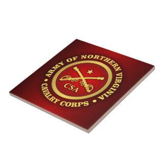 CSC - Ejército de cuerpo de caballería de Virginia Azulejo Cuadrado Pequeño