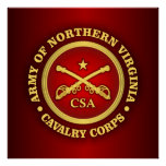 CSC - Ejército de cuerpo de caballería de Virginia Póster