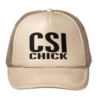 CSI Chick 1 Trucker Hat