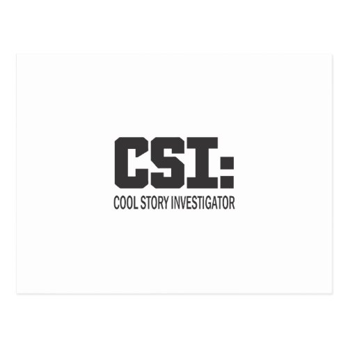 CSI Cool Story Investigator Postcard