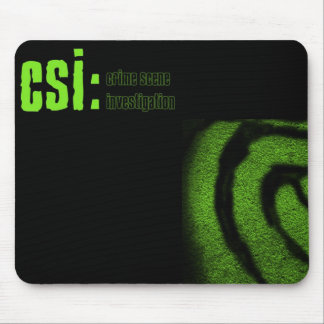 csi crime scene investigation mouse pad