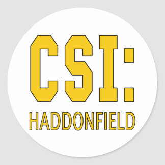 CSI: Haddonfield IL Products Classic Round Sticker