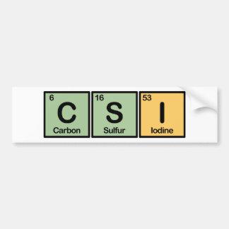 CSI hizo de elementos Pegatina Para Auto