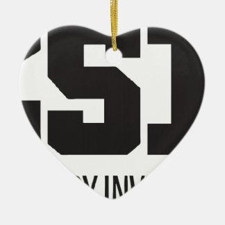CSI: Investigador fresco de la historia Adorno Navideño De Cerámica En Forma De Corazón