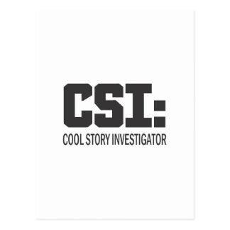 CSI: Investigador fresco de la historia Tarjetas Postales