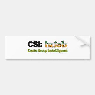 CSI Irish Bumper Sticker