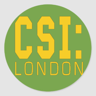 CSI London Products Classic Round Sticker