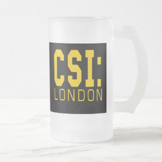 CSI London Products 16 Oz Frosted Glass Beer Mug