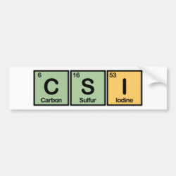 CSI Bumper Sticker