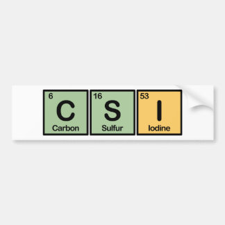CSI made of Elements Bumper Sticker