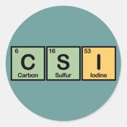 Round Sticker with CSI design