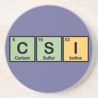 CSI made of Elements Coaster