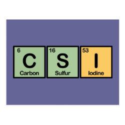 Postcard with CSI design