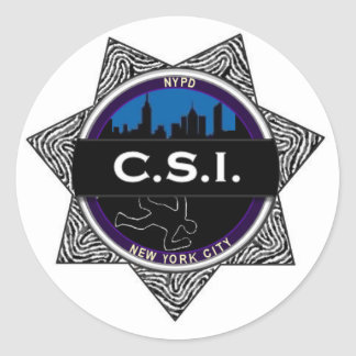 CSI New York TV Show Badge Sticker Gift