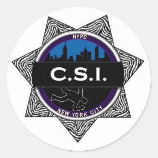 CSI New York TV Show Badge Sticker Gift