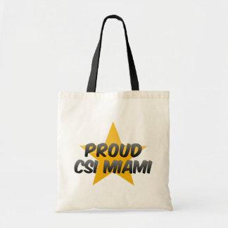 Csi orgulloso Miami Bolsa Tela Barata