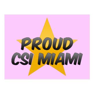 Csi orgulloso Miami Tarjeta Postal