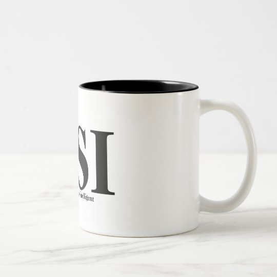 CSI T-shirts and Gifts. Two-Tone Coffee Mug