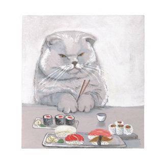 ©CSiravo de Sr. Grumps del gato del sushi Bloc De Notas