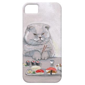 ©CSiravo de Sr. Grumps del gato del sushi iPhone 5 Carcasas