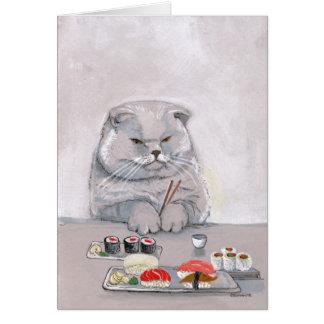 ©CSiravo de Sr. Grumps del gato del sushi Tarjeta De Felicitación