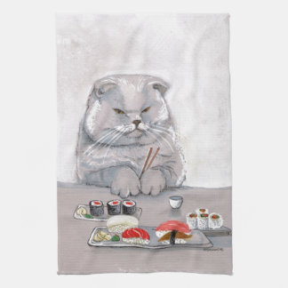 ©CSiravo de Sr. Grumps del gato del sushi Toallas De Mano
