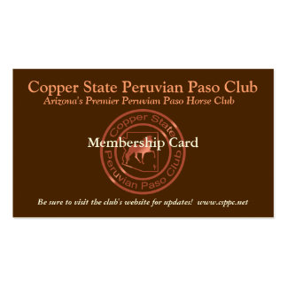 CSPPC Membership Card Business Card Template