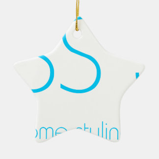 Css 3 Web Design Awesome Tshirt Double-Sided Star Ceramic Christmas Ornament