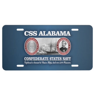 CSS Alabama (CSN) License Plate