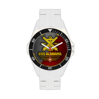 CSS Alabama (emblema de la marina de guerra) Relojes De Pulsera