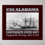 CSS Alabama - Kearsarge (b) Póster