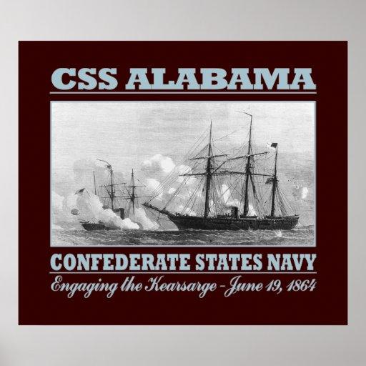 CSS Alabama -Kearsarge (B) Poster