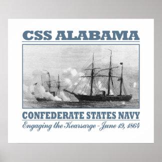 CSS Alabama -Kearsarge Poster