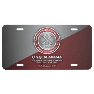 CSS Alabama (SF) License Plate