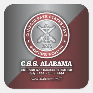CSS Alabama (SF) Pegatina Cuadrada