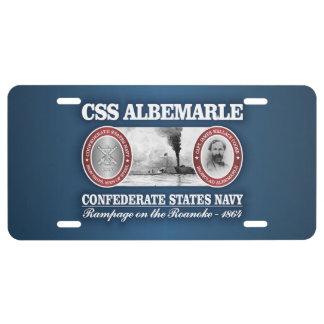 CSS Albemarle (CSN) License Plate